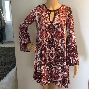Ladies Long Sleeve Boho Hipster Dress!